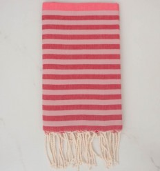 Beach Towel pink, red and pale pink