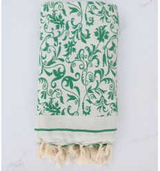 Beach Towel green flower