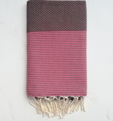 Bath Towel brown striped pink
