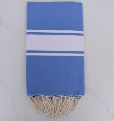 Flat electric blue fouta