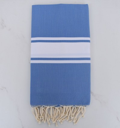 Cornflower blue beach towel