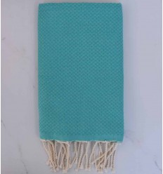 Beach Towel solid color Emerald green