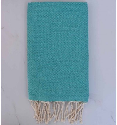 Beach Towel solid color Emerald green