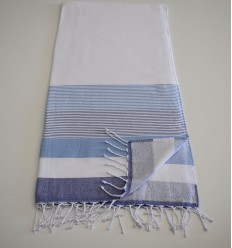 Beach Towel white and blue sponge