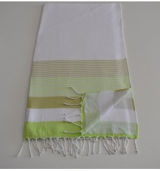 Towel white sponge, light green and light khaki