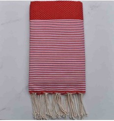 Honeycomb gooseberry red striped white fouta