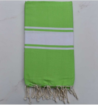 Flat lime green fouta