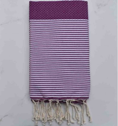 honeycomb Maximum Red Purple beach towel