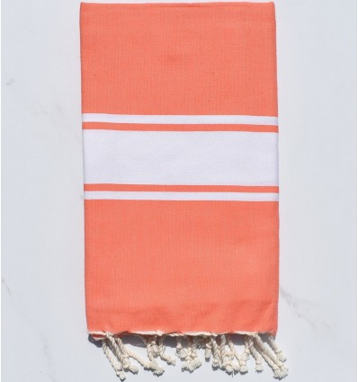 Beach towel flat coral