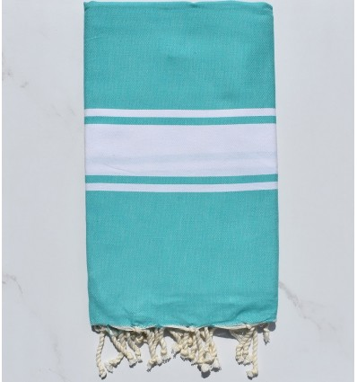Beach Towel flat green baltic
