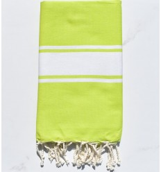Beach towel Chartreuse green