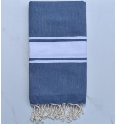 Beach Towel blue woad