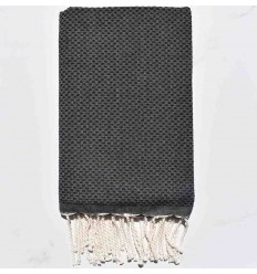 Beach Towel solid color charcoal grey