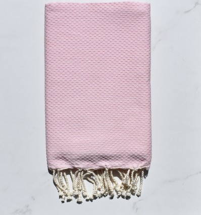 Bath Towel solid color clear candy pink