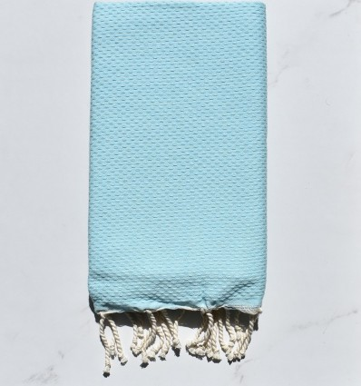 Bath Towel solid color blue clear water