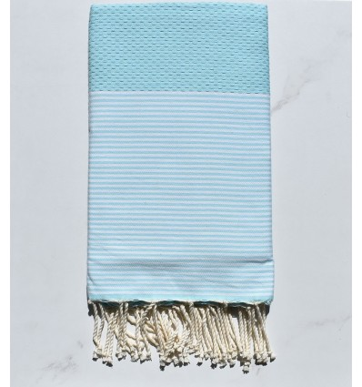 Beach Towel blue clear water with stripes