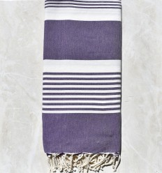 Bedspreads purple with stripes 2m / 2m
