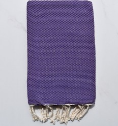 Plain honeycomb purple fouta
