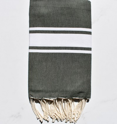 Flat imperial green fouta