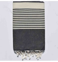 Beach Towel Arthur slate with stripes