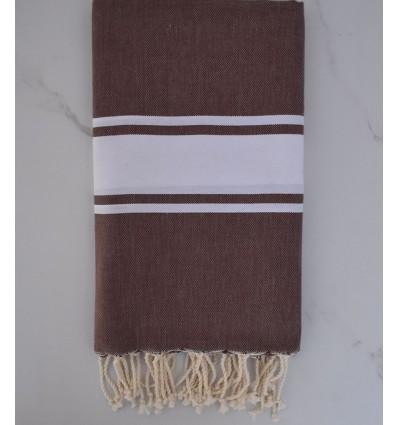 Flat Brown beach towel