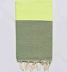 honeycomb fluo striped anthracite beach towel