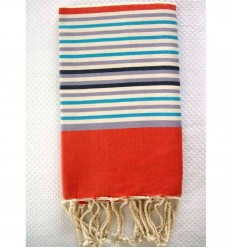 Ziwane 5 colors orange fouta