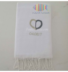 personalized beach towel for wedding