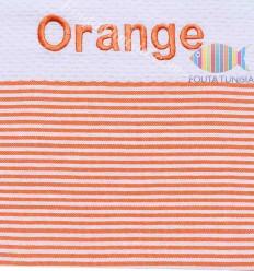 beach towel honeycomb embroidery ORANGE