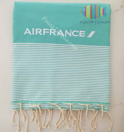 embroidered beach towel for AIR FRANCE