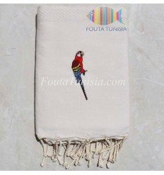 personalized parrot beach towel