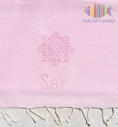 personalized beach towel with patterns for wedding