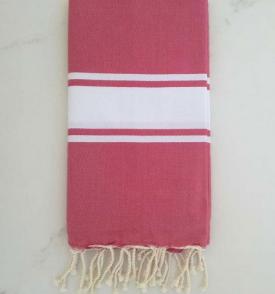 Pink beach towel