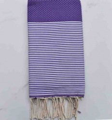 Honeycomb violet beach towel