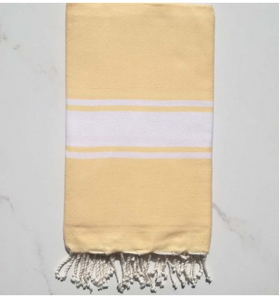 Flat light yellow fouta