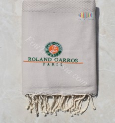 beach towel Fouta personalized Roland garros