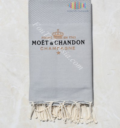 Beach towel embroidered Moët & Chandon