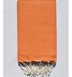 Plain honeycomb orange fouta