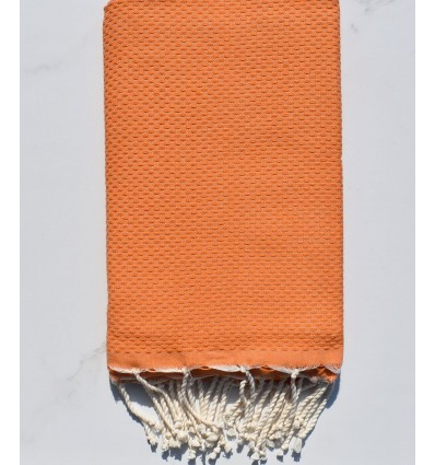 Plain honeycomb orange fouta