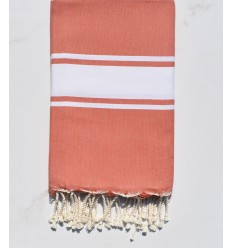 Fouta Plate rouge bordeaux
