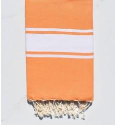 Light orange beach towel