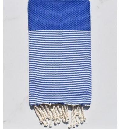 honeycomb Tufts Blue beach towel