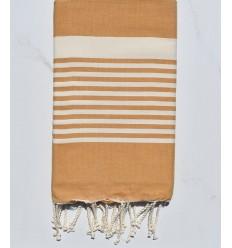 ocher brown arthur beach towel