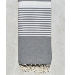 steel gray throw