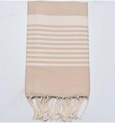 light beige arthur beach towel