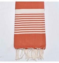 dark orange arthur beach towel