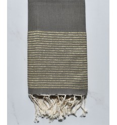 Flat military green lurex fouta