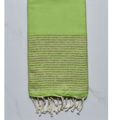 Flat lime green lurex fouta