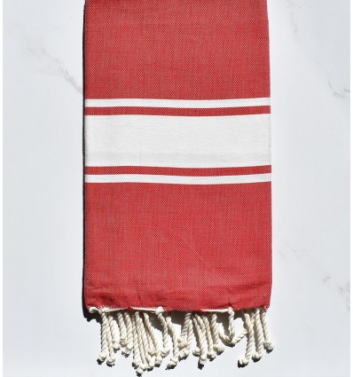FLAT MADDER RED FOUTA