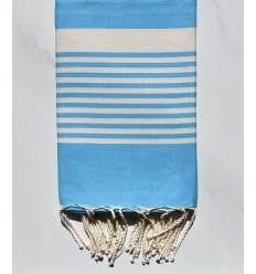 vivid cerulean arthur beach towel